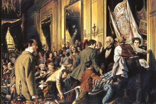 "Louis S. Glanzman's ""Andrew Jackson's Inauguration"" (1970)"