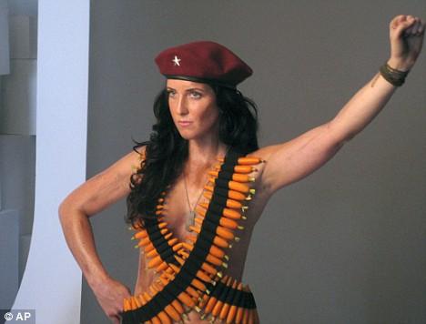 Lydia Guevara and bandoliers of carrots